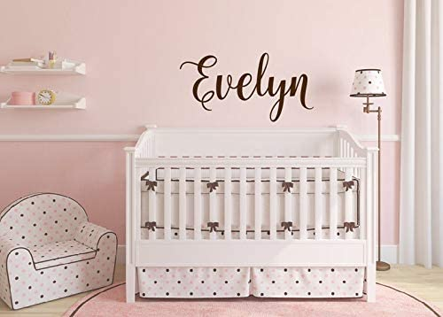 CECILIAPATER Swirly Name Decal - Girls Name Wall Decal Girls Nursery Decor Baby Girl Nursery Wall Decal - Vinyl Wall Decal - Vinyl Lettering