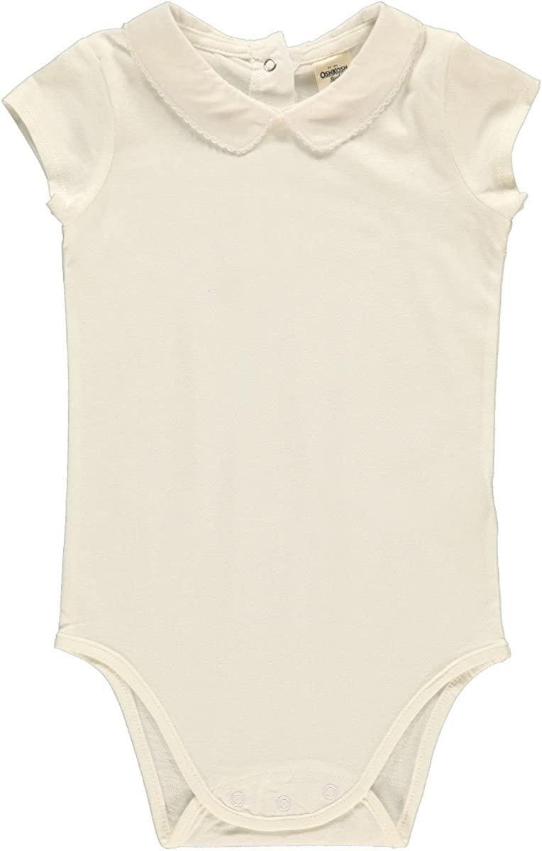 OshKosh BGosh Jersey Knit Bodysuit (Baby) - White-12 Months