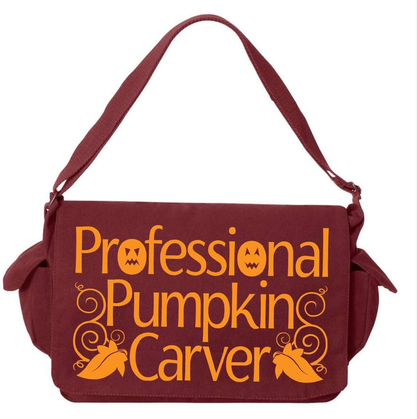 HARD EDGE DESIGN Professional Pumpkin Carver Maroon Brushed Canvas Messenger Bag