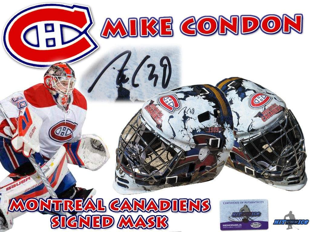 MIKE CONDON Signed MONTREAL CANADIENS Full Size GOALIE MASK w/COA HOLOGRAM #2 - Autographed NHL Helmets and Masks