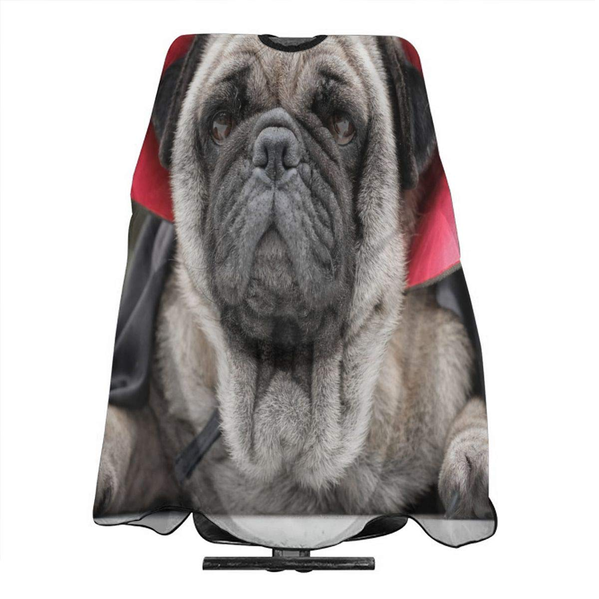 Barber Cape Dracula Pugs Dog In Halloween Ghost Costume Professional Salon Hair Cutting Capes For Hair Stylist Waterproof Haircut Hairstylist Clients Hairstylist Capes For Adult Men Women Kids