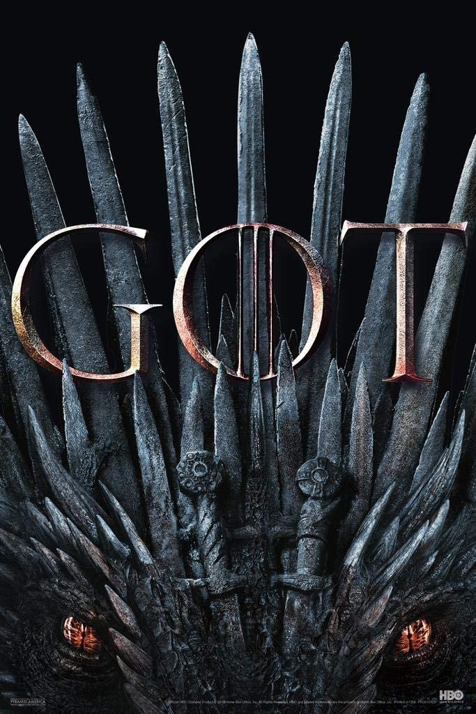 Pyramid America Game of Thrones Season 8 Iron Throne GOT Dragon Eyes Cool Wall Decor Art Print Poster 12x18