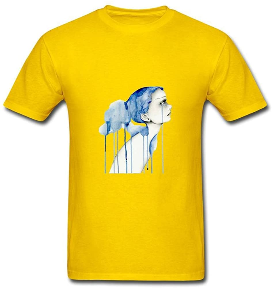 Dawn Lee Men's Blue Tears Logo Custom T Shirt