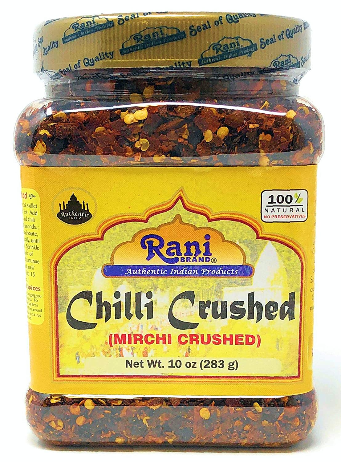 Rani Crushed Chilli (Pizza Type Cut) Indian Spice 10oz (283g) ~ All Natural, No Color added, Gluten Free Ingredients | Vegan | NON-GMO | No Salt or fillers
