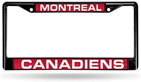 NHL Rico Industries Laser Cut Inlaid Standard Chrome License Plate Frame, Montreal Canadiens