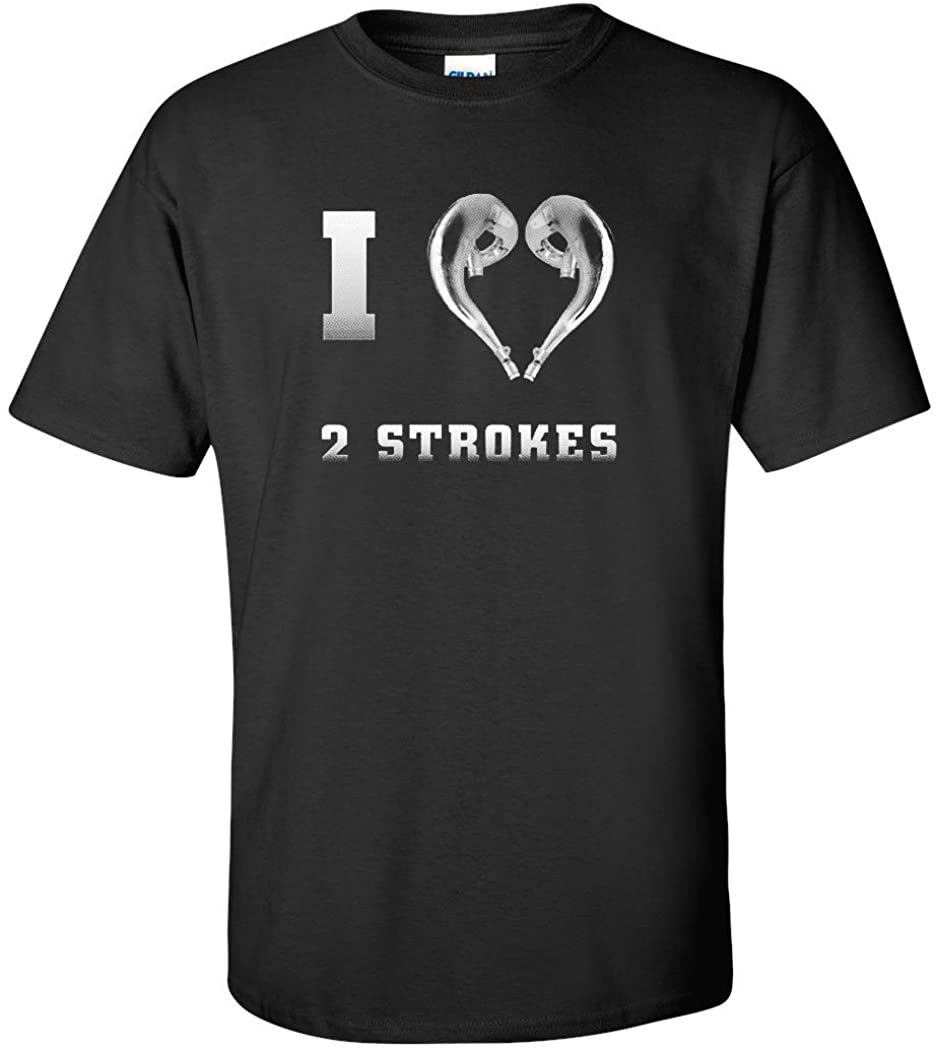 I Love 2 Strokes Graphic T-Shirt-X-Large