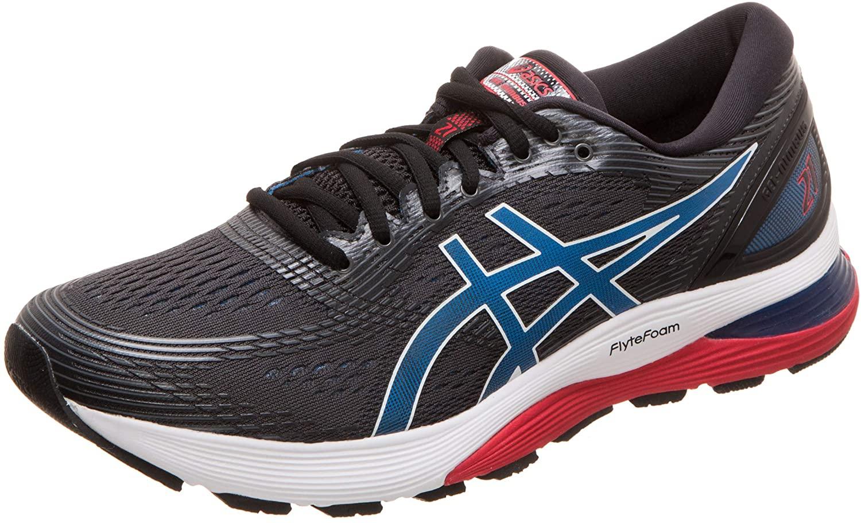 Asics Men's Gel-Nimbus 21 Running Shoes, (Black/Electric Blue 005), 10 UK, (45 EU)