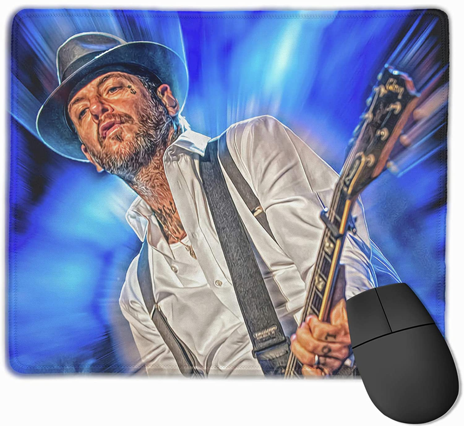 Social Distortion Precision-Locked Mouse Pad 9.8x11.8in, Durable Rectangular Mouse Pad with Non-Slip Rubber Base, Suitable for Laptops, Computers and Pcs