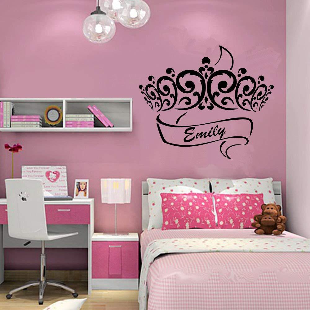 Emily Girl Name Kids Room Nursery Wall Sticker Movies 小artoon Floral Vinyl Decal Mural Art Decor sr2