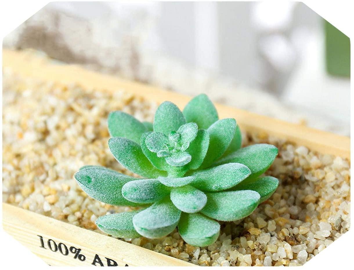 MUZIBLUE Artificial Flower Arrangements| Autumn Mini Artificial Succulents Plastic Fake Plants Home Garden Decoration DIY Bonsai Succulents Gem Lotus-2