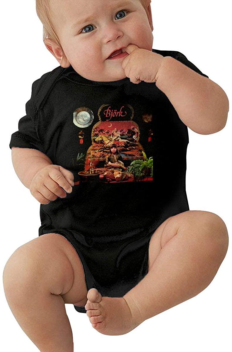 Cfgerends Bjork Baby Bodysuit boy Girl Short Sleeve T-Shirt Cotton Shirts