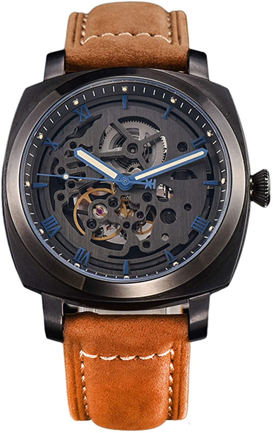 Seagull Movement Fully Hollow Automatic Mechanical Men's Watch Personality Trendy Men's Watch See-Through Back
