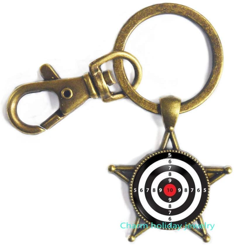 Dart Target Keychain Sport Jewelry Darts Keychain Dart Board Key Ring Dart Jewelry Dartboard Keychain Shooting Range Dart Board Jewelry-#82