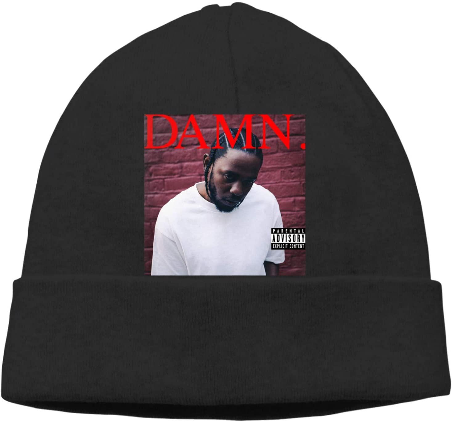 Wbenda Kendrick Lamar?Damn Hedging Cap Funny Skull Beanies Thin Bonnet Cap Autumn Casual Beanies Hat Black
