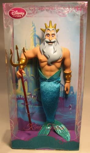 Disney The Little Mermaid Exclusive King Triton Doll -- 12'' H