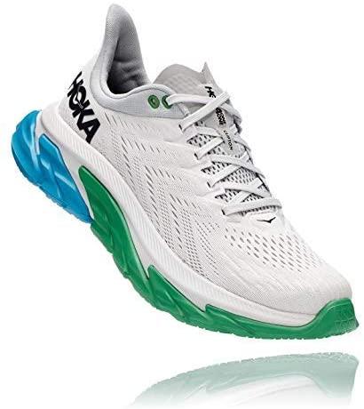 HOKA ONE ONE Men's Clifton Edge Running Shoe (Nimbus Cloud/Greenbriar, Numeric_12_Point_5)