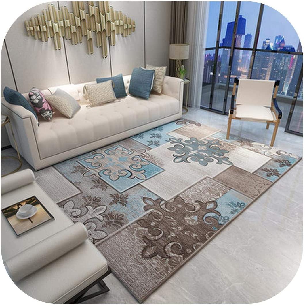 Interior Rugs Living Room| Classical Print European Geometric Carpet for Living Room Bedroom Anti-Slip Floor Mat Fashion Kitchen Carpet Area Rugs-05-80 X 160cm