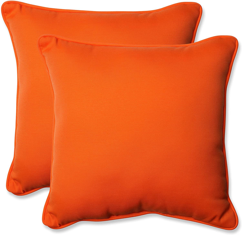 Pillow Perfect Outdoor/Indoor Sundeck Throw Pillows, 18.5
