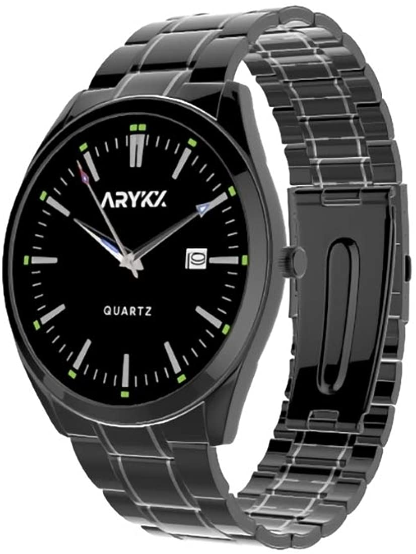 ARYKX Stainless Steel Watch for Men - Real Rust-Proof Stainless Steel - Quartz Tech & Mechanism for Accurate Time Keeping - 30M Depth Waterproof Wristwatch - Gift Ideas for Fathers & Husbands