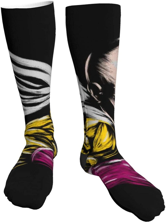 Mens Heavy Thick Socks One Punch Man Wanpanman Saitama Soft Comfort Crew Socks Casual Athletic 20in Long The-Calf Sock
