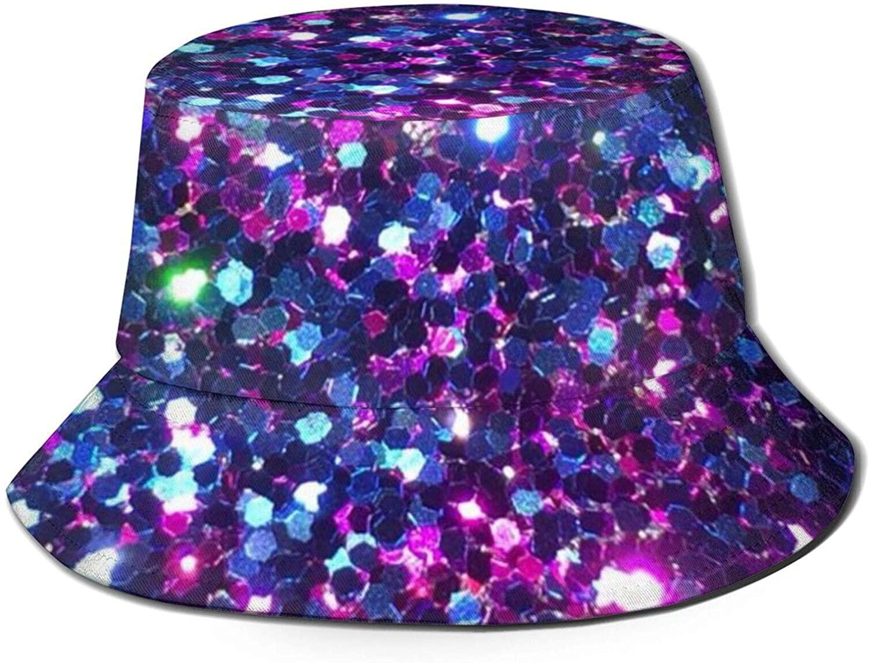 Neddelo Glitter Summer Fisherman's Cap, Fashion Sun Hat, Breathable Washed Beach Bucket Hat for Men Women