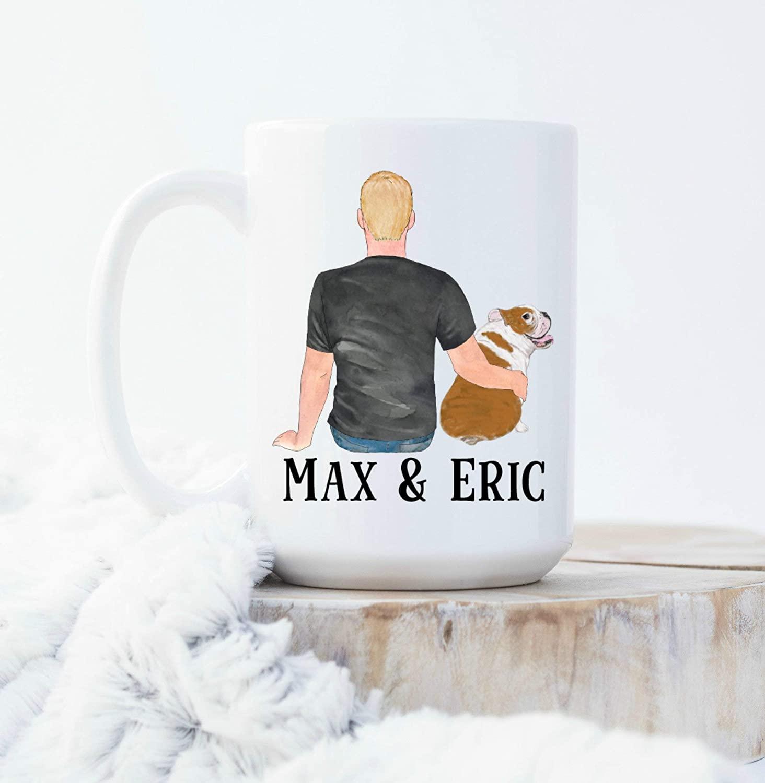 English Bulldog Dad Gifts For Bull Dog Dad Gift For Christmas Cute Coffee Mug Dog Dad