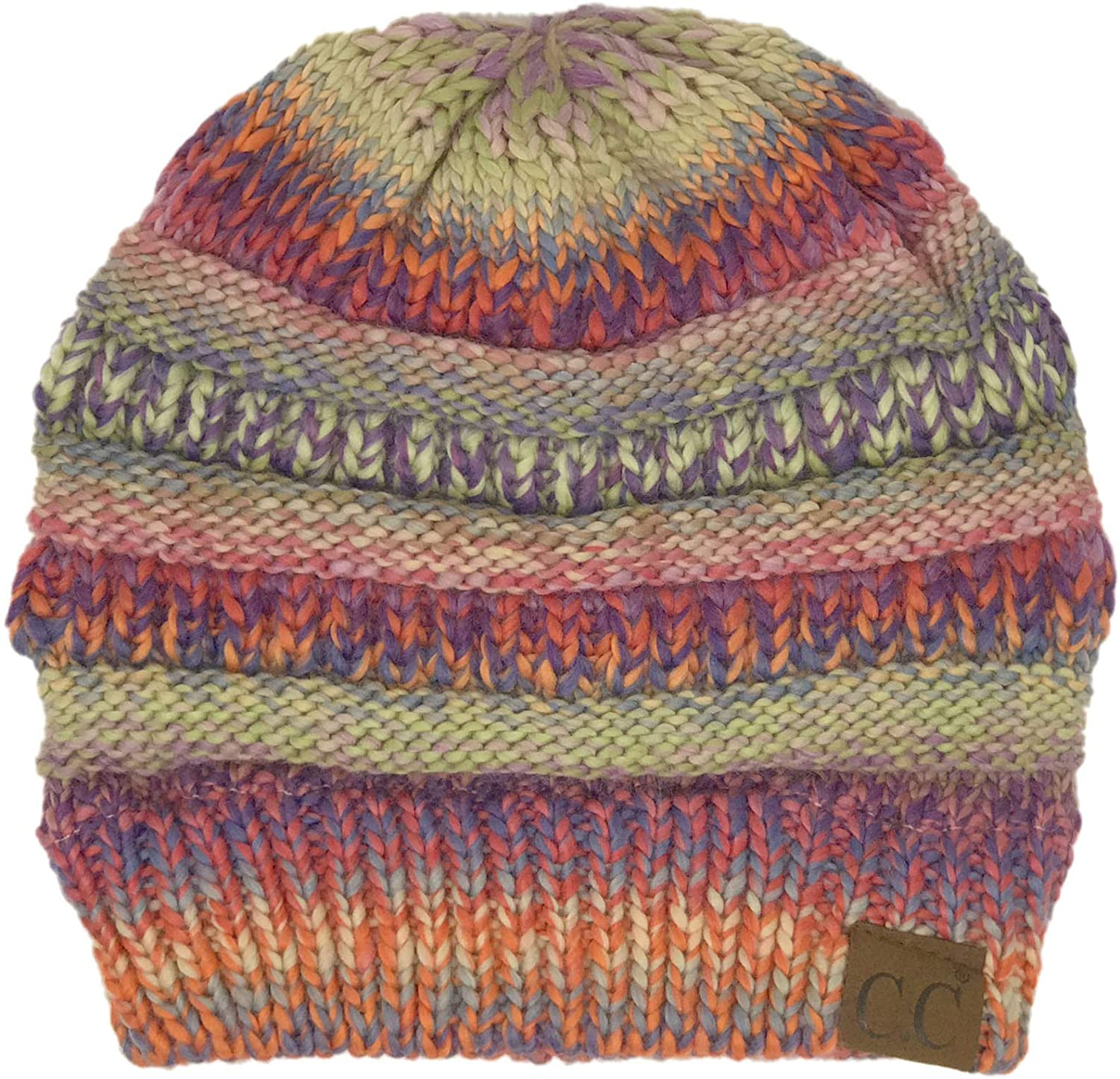 CC Classic Winter Fall Trendy Chunky Stretchy Cable Knit Beanie Hat