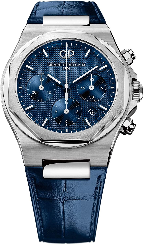 Girard Perregaux Laureato Chronograph 42mm Mens Watch (Blue)