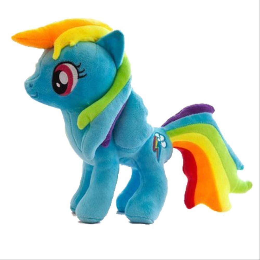 YUNZHI Plush Toys My Pony Cute Plush Stuffed Toy Doll Soft Anime Toy Gift- 33CM Blue-Plush Toy