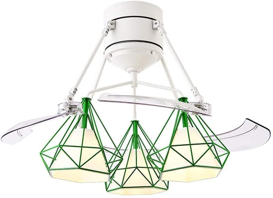 Modern Ceiling Fans with Lamp Pendant Light 48 Inch Invisible Fan Light Living Room Dining Room Fan Light Bedroom Home Integrated Light Wind Fan Light