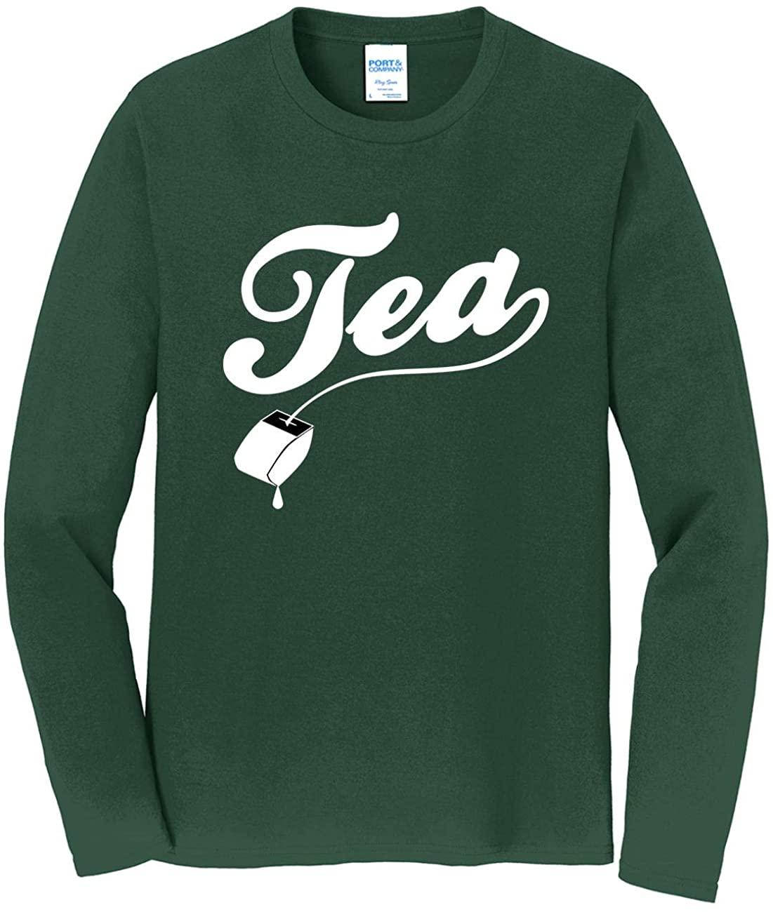 HARD EDGE DESIGN Men's Tea Long Sleeve T-Shirt, 5X-Large, Forest Green