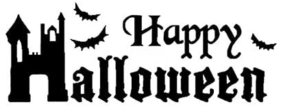 Nice Stickers 16.16CM Lovely Halloween Decor Car Stickers Accessories Vinyl Motorcycle (Color Name : Black)