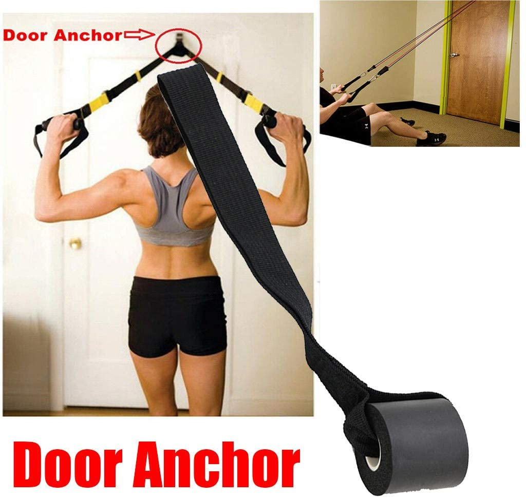 XQXCL Door Anchor for Exercise Band, Heavy Duty Door Anchor Attachment TPR Buffer Ring - Fitness Rope Door Anchor Fitness Equipment Accessories (Wont Damage Door