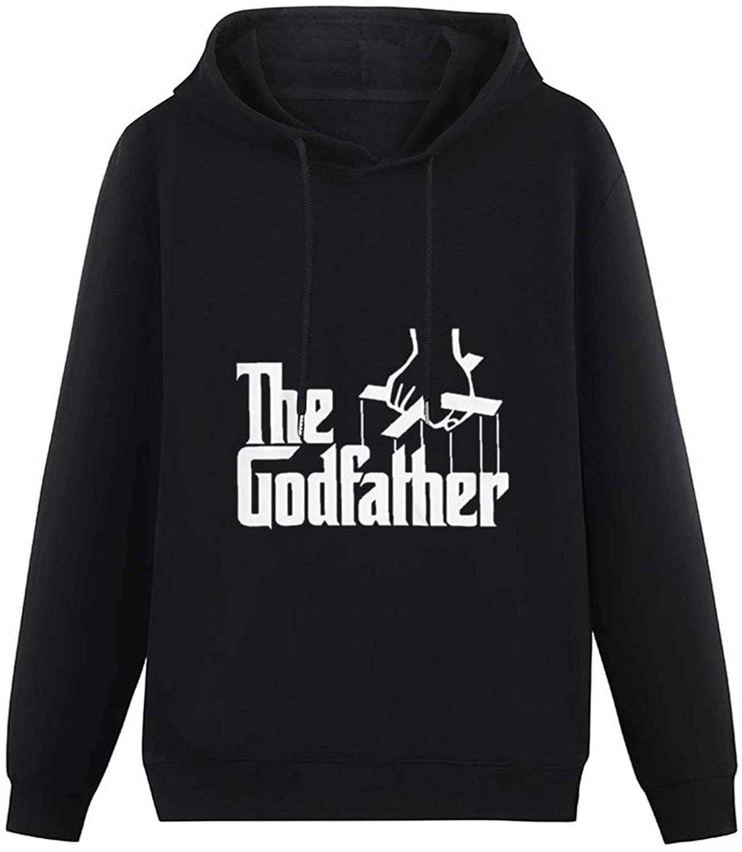 The GodfatherPrinted Soft Cotton Hooded Sweatshirt Single-Sided Printing Pocketless Sweater for Menblack-style16 S
