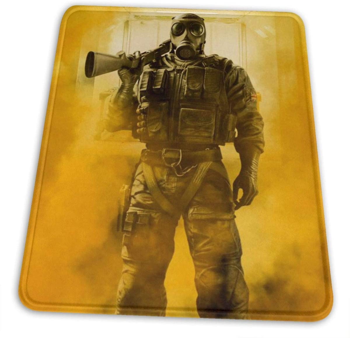 Rainbow Six Siege Gaming Mouse Pad Mouse Mat Non-Slip Rubber Game Mousepad with Stitched Edge Wrist Rests Multifunctional Big Office Desk Pad for Pc Computer Laptop 7 X 8.6 in