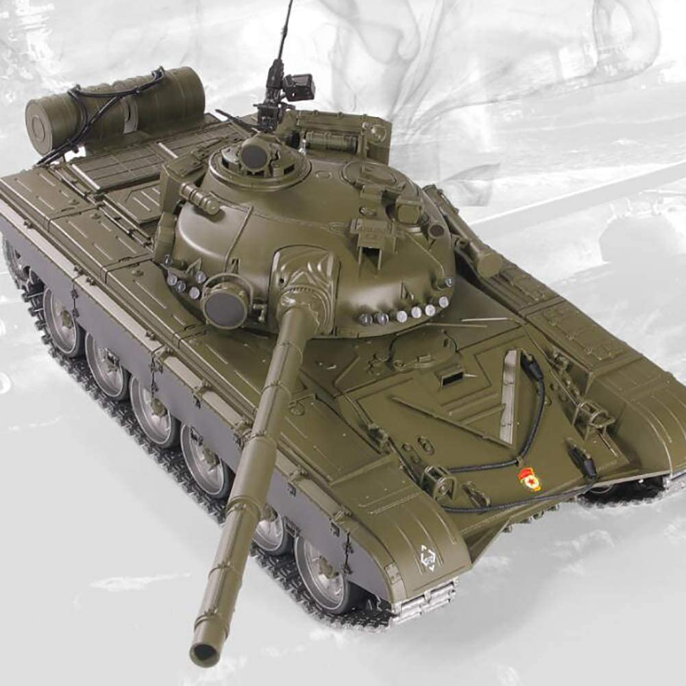 Deliya Russian T-72 Main Battle Tank RC Remote Control Tank, 2.4Ghz 1/16 Scale Model, Simulation Track, Simulation Sound/Action Shooting BB Eggs