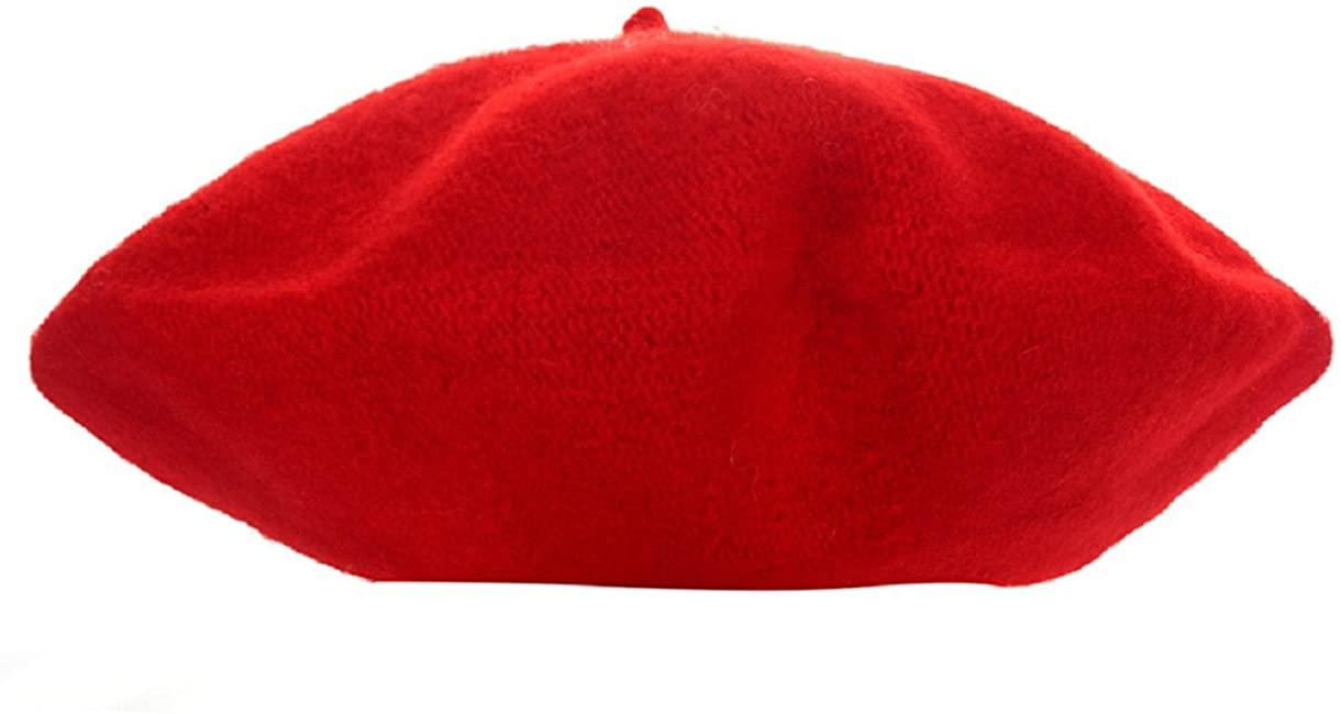 Sannysis Cute Kids Girls Bailey Hat Dome Beret (Watermelon Red)