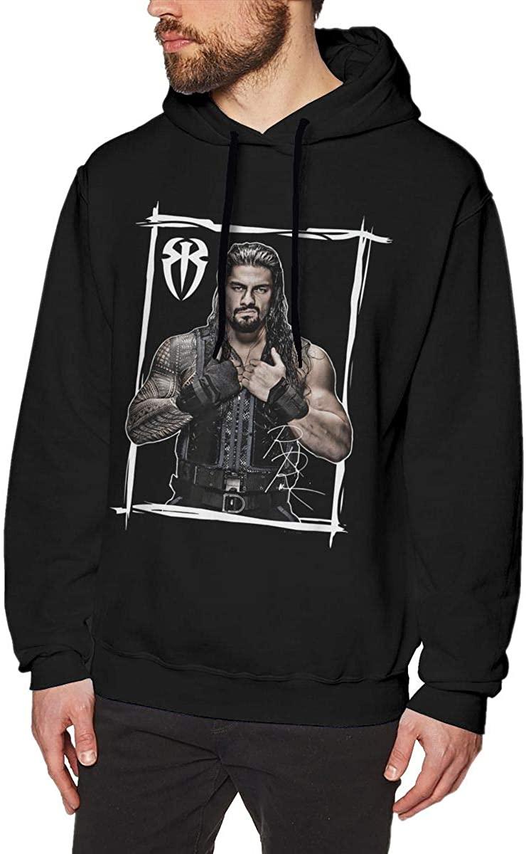Roman Reigns Hoodie Men's Pullover Classic Style Long Sleeve Sweatshirt