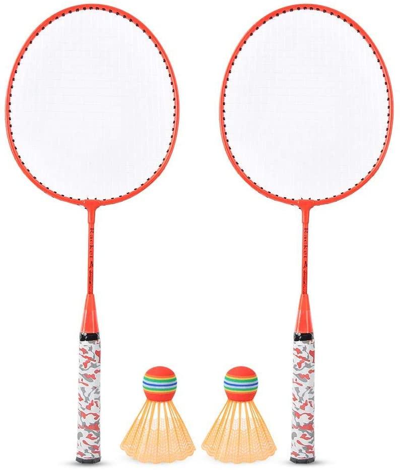 Vbest life Children Badminton Racket, Badminton Rackets with 2 Balls Outdoor Sports Game Kids Boys Girls Toy