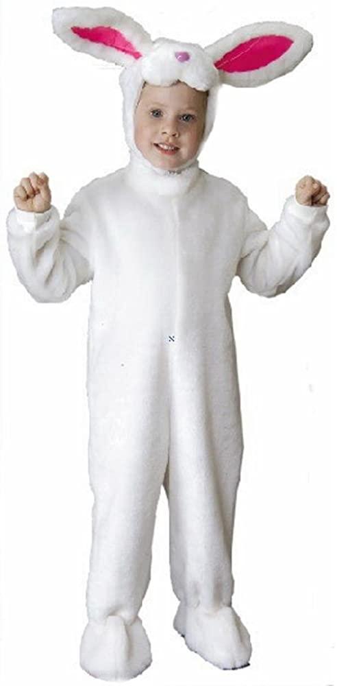 Toddler Plush White Rabbit Halloween Costume (Size: 4T)