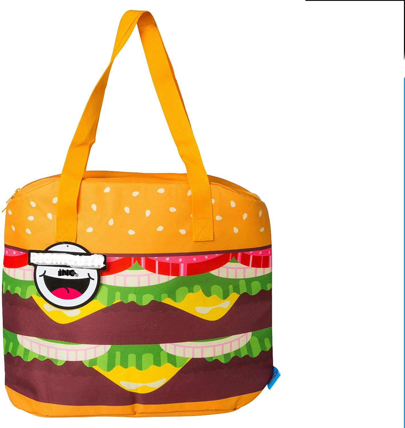 BigMouth Inc. Giant Cheeseburger Cooler Bag - EVA-Insulated Tote That Keeps Drinks Cool, Easy to Carry, Wide Opening for Easy Packing, Can Fit up to 12 Standard Cans or Bottles, Makes a Great Gift