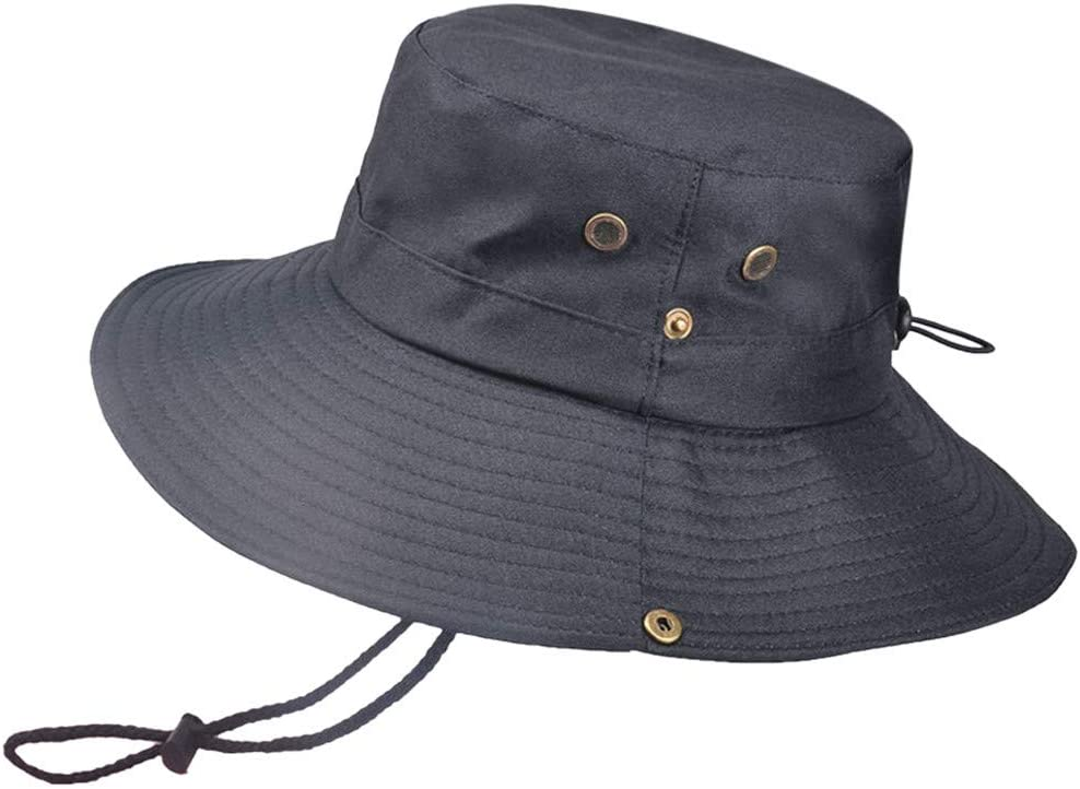 Summer Outdoor Sun Hat Protection Bucket Boonie Cap Solid Adjustable Fishing Hat, Hat, Clothing Shoes & Accessories