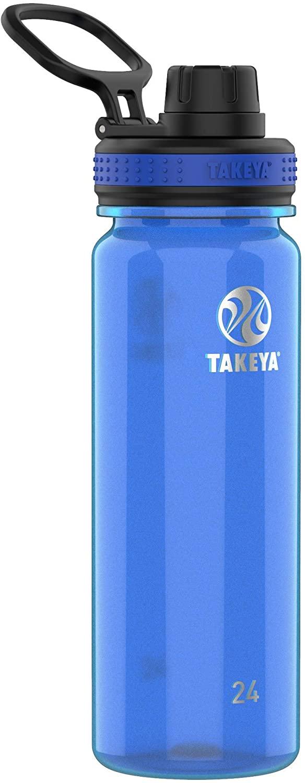 Takeya Tritan Sports Water Bottle with Spout Lid, 24 oz, Royal