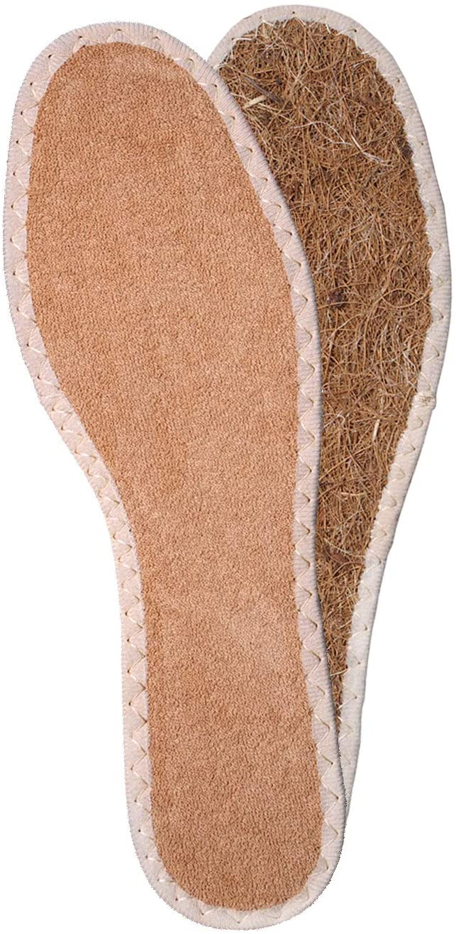 Shoe Boot Insoles Inserts with Natural Coconut Fibres and Terry Cloth - MicroClimate for Your Feet - Kaps Eco (Men / 11 US / 44 EUR / 10 UK)