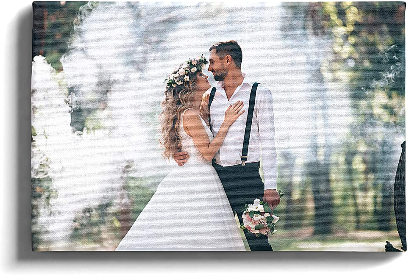 CocoBox - Personalized Photo to Canvas For Wedding | Wall Art Pictures For Home Decor | Customized Gifts For Living Room Bedroom Portraits | Great for Your Favorite Picture Of You And Your Spouse