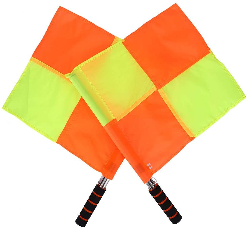 Sport Flag, Referee Flag, Outdoor Durable Red and Yellow Linesman Flag, for Football for Soccer Soccer Equipment