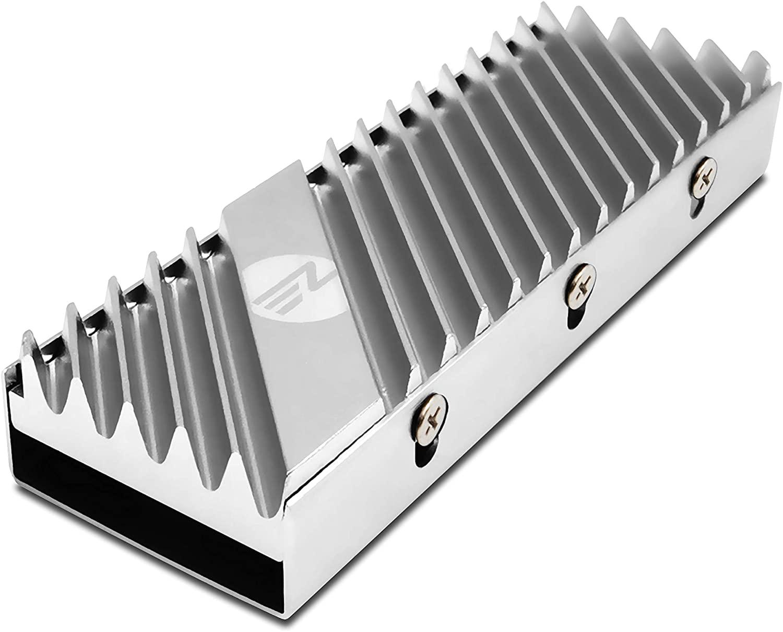 EZDIY-FAB M.2 SSD heatsink 2280, Double-Sided Heat Sink, High Performance SSD Radiator wit for PCIE NVME M.2 SSD or SATA M.2 SSD- Silver