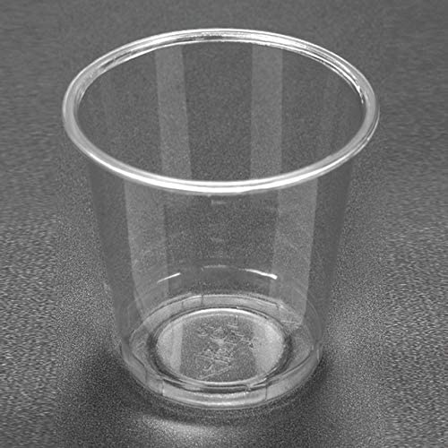 Disposable Plastic 2 Oz shot Cups Good for Condiments, Jello Shots, Tasting, Sauce, Dipping, Samples, Clear and Fully Transparent (Cold Cup) (2 OZ - 100 Cups)