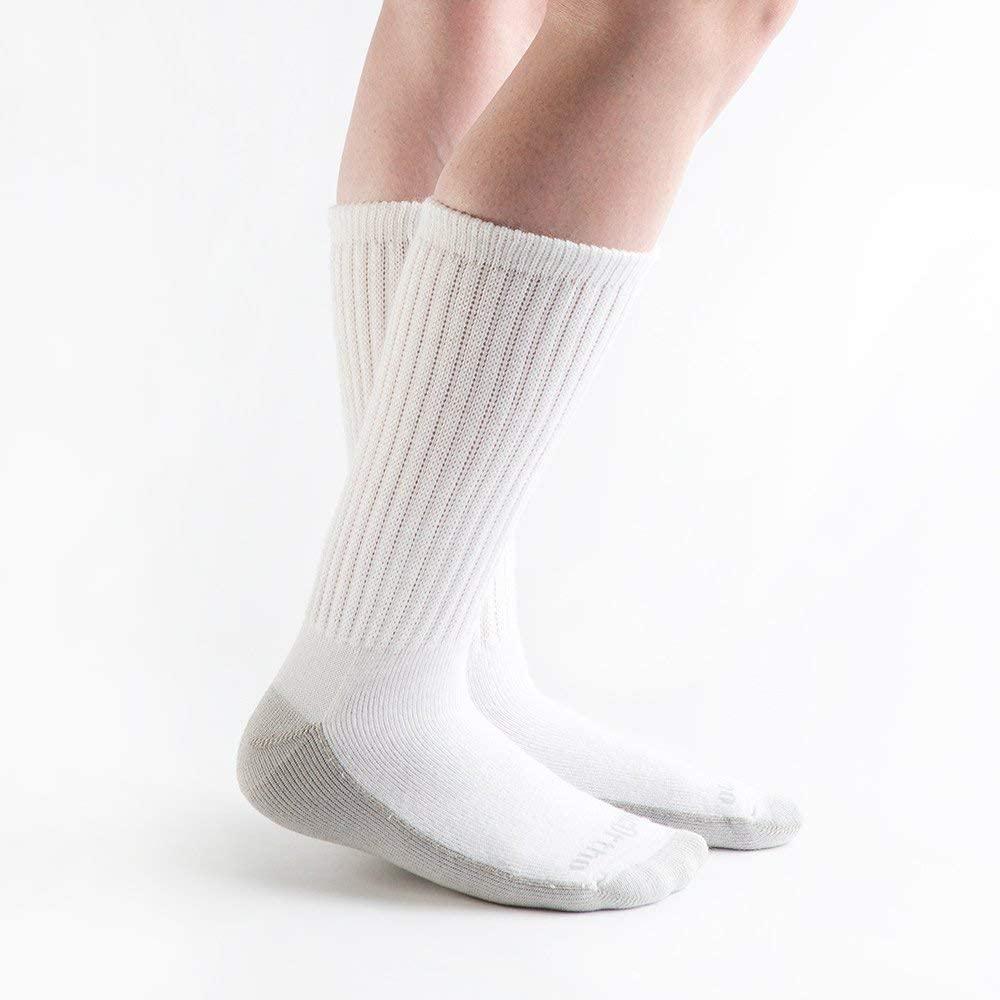 Doc Ortho Ultra Soft Silver Diabetic Socks, 2 Pairs, Crew