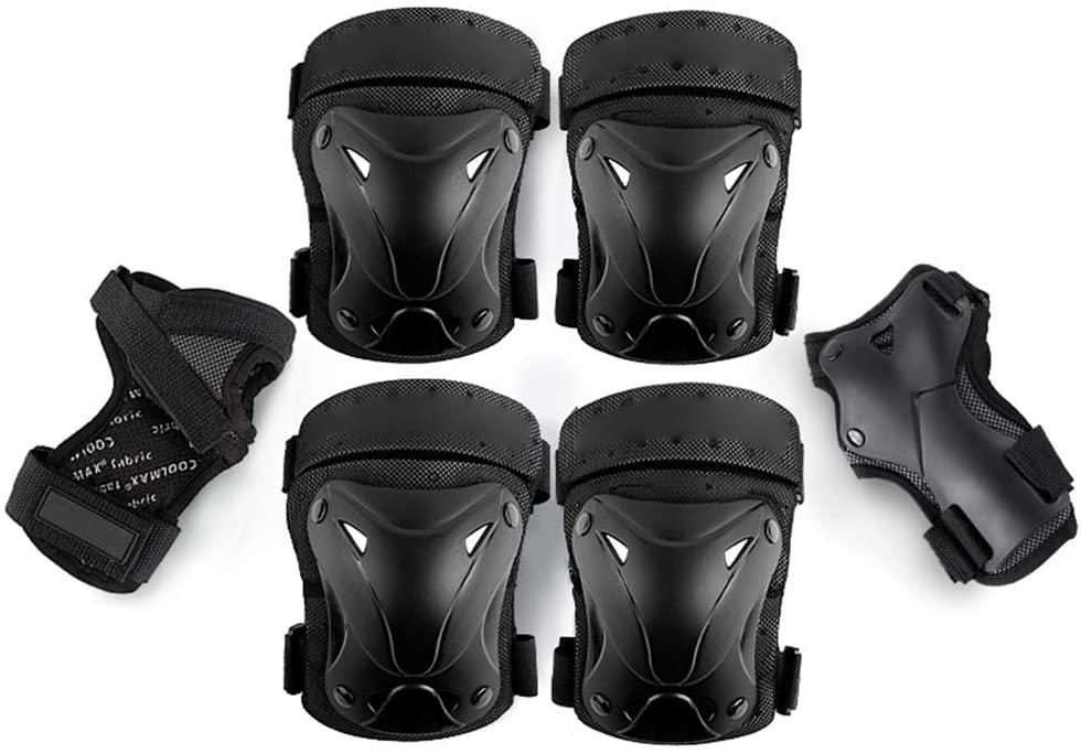 zuoshini Kids Protective Gear Set, Knee Pads Elbow Pads Wrist Guards 6 pcs/Set Kids Protective Gear Kneepads Elbow Pads Wrist Guard for Rollerblading Skateboard Cycling Skating Bike